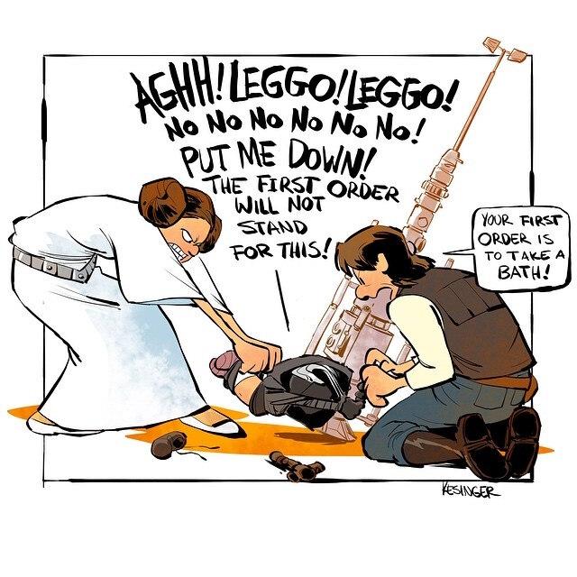 Artista Recria Star Wars No Estilo Calvin E Haroldo Em