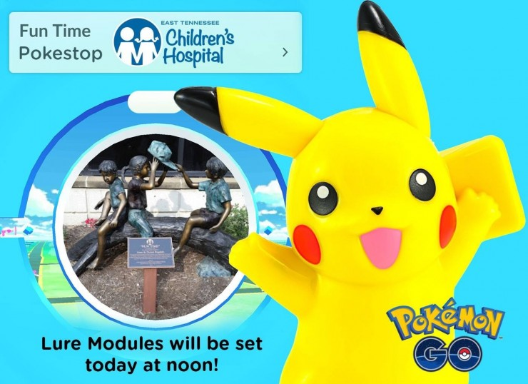 Resultado de imagem para pokémon go hospital de crianças lure