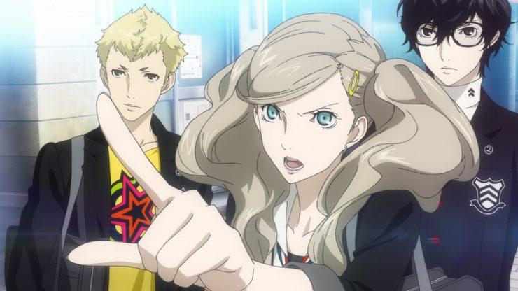 Joker, Ryuji e Ann, personagens de Persona 5