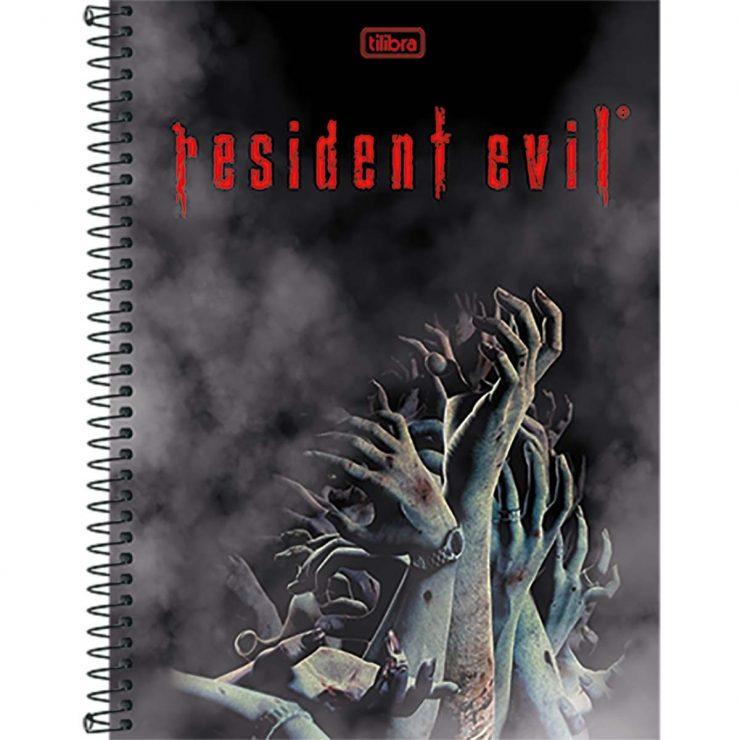 caderno-espiral-capa-dura-universitario-10-materias-resident-evil-200fls-6449f7f2e7e494b7d77dab536110e3e9