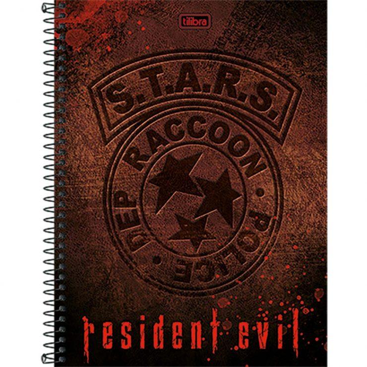 caderno-espiral-capa-dura-universitario-10-materias-resident-evil-200fls-df5639c950d695deba6e3c50206c77c1
