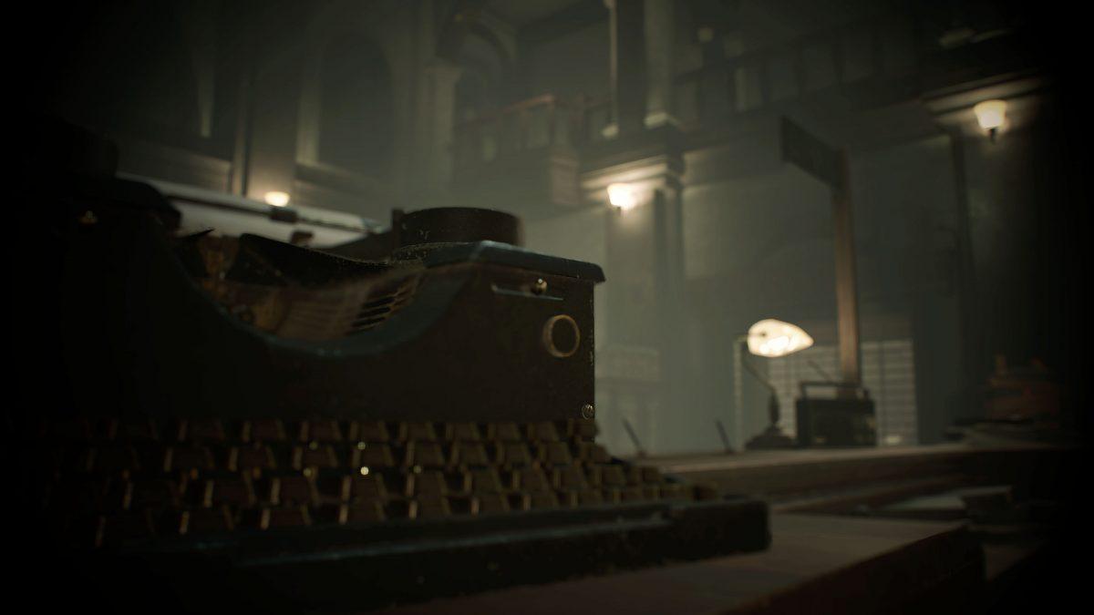 resident evil 2 remake maquina de escrever