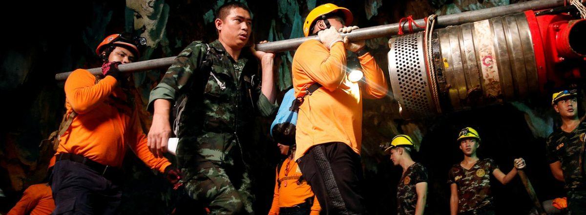 Produtora já planeja fazer filme sobre o resgate dos garotos na Tailândia