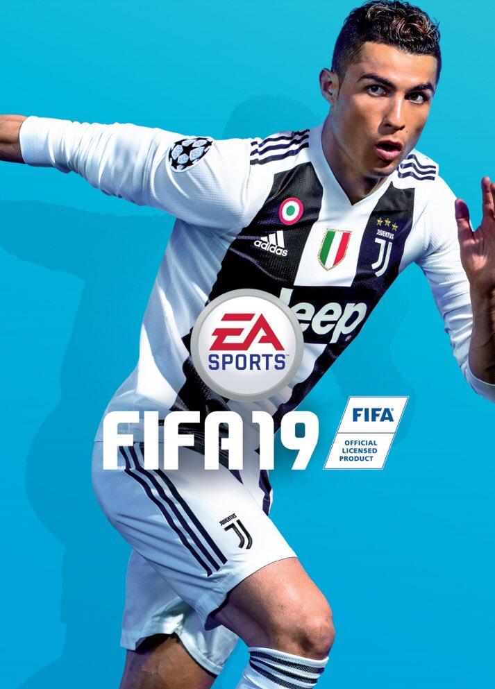 Capa FIFA 19 com Cristiano Ronaldo na Juventus