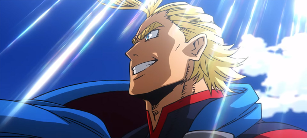 Resultado de imagem para my hero academia two heroes all might