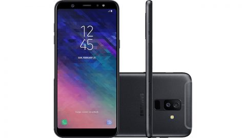 "Smartphone Samsung Galaxy A6+ Dual Chip Android 8.0 Tela 6"" Octa-Core 1.8GHz 64GB 4G Câmera 16MP F1.7 + 5MP F1.9 (Dual Cam)"