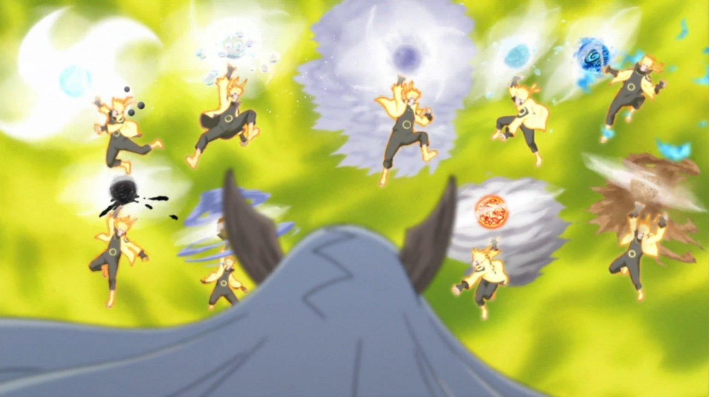 Quem no universo de Naruto seria capaz de derrotar Tatsumaki? - Página 2 Arte-S%C3%A1bia-Super-Rasenshuriken-das-Bestas-com-Cauda