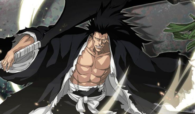 Askin vs Ichigo dangai , Byakuya e Zaraki  Kenpachi-Zaraki-740x435