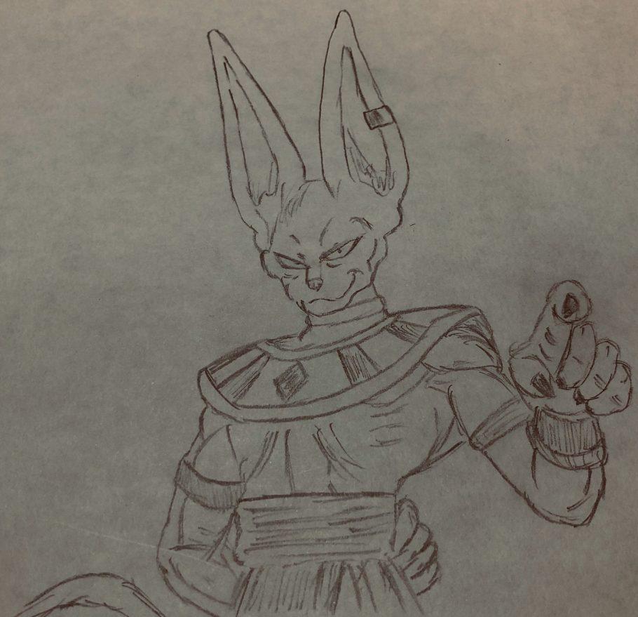 Roteirista de Dragon Ball Super desenhou Beerus pronto para erradicar o coronavírus