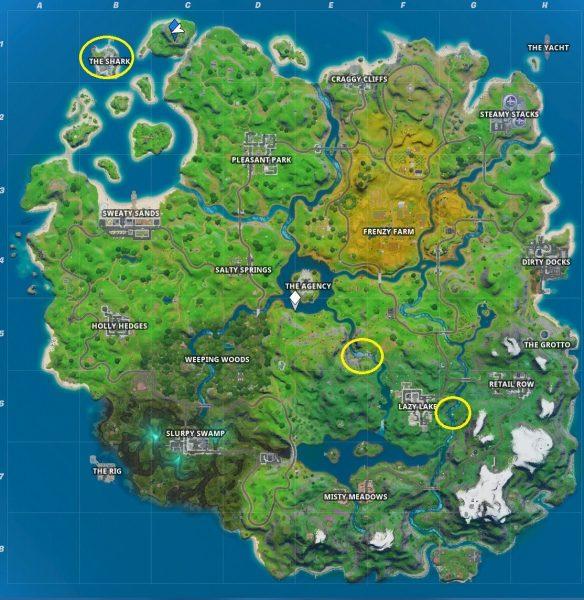 Fortnite locais desafio