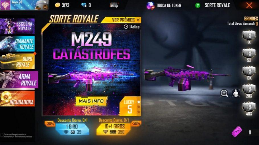 Free Fire M249 Catástrofes