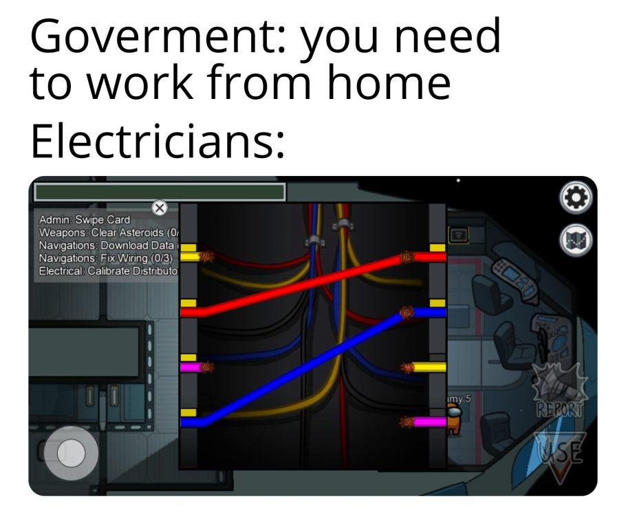 Among Us eletricistas
