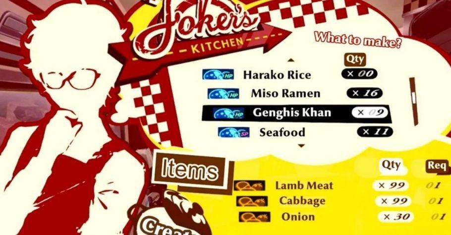 Persona 5 melhores pratos
