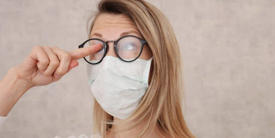 4 técnicas para não embaçar os óculos usando Máscara