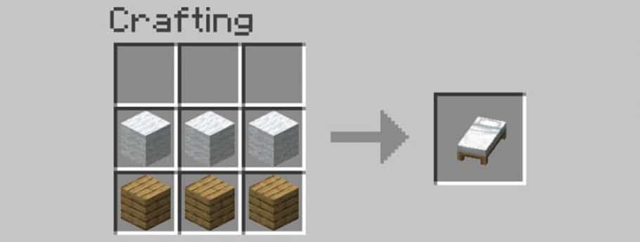 Minecraft - Como fazer uma cama