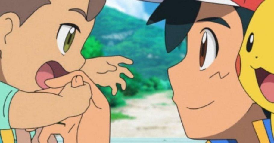 Dublagem de Pokémon Journeys compartilha clipe emocionante do Ash encontrando seu irmão mais novo