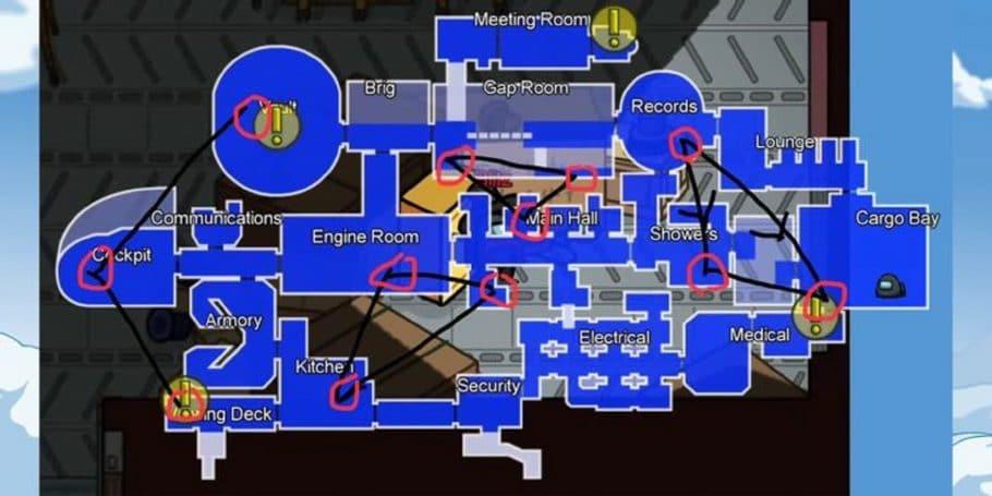 Among Us - Como usar os dutos no mapa Airship