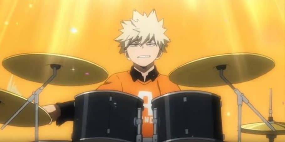 Cuando Bakugo se unió al grupo de rock de Kyoka, Jiro